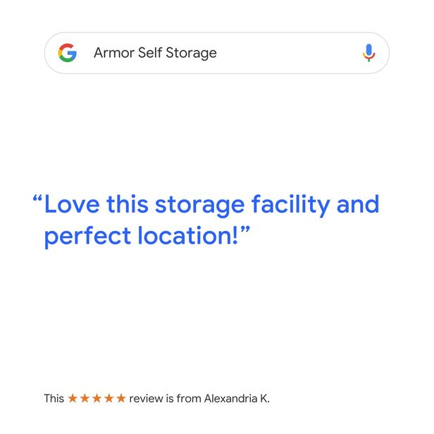Google Review for Armor Self Storage - Keller, TX