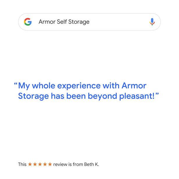 Google Review for Armor Self Storage - Haltom City, TX