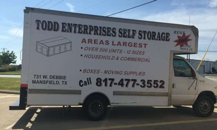 Todd Self Storage Free Truck Rental