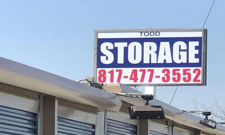 Todd Self Storage Mansfield, TX Signage